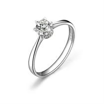 【一生牵绊 】 白18k金40分/0.4克拉钻石戒指