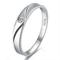 【情意】 白18k金2分/0.02克拉钻石戒指