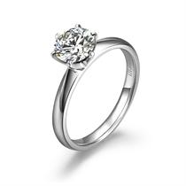 【世纪之恋】 白18k金钻石女士戒指
