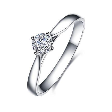 【典美系列】 PT950铂金40分/0.4克拉钻石戒指
