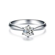 【挚爱】 18K白金钻石女士戒指