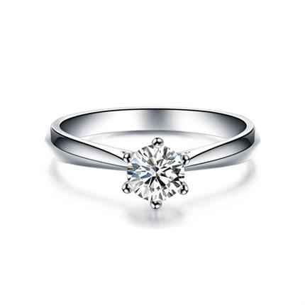 【挚爱】 白18k金钻石女士戒指