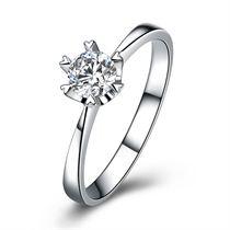 【童话】 白18k金30分/0.3克拉钻石戒指