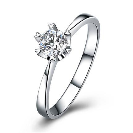 【童话】 白18k金32分/0.32克拉钻石戒指
