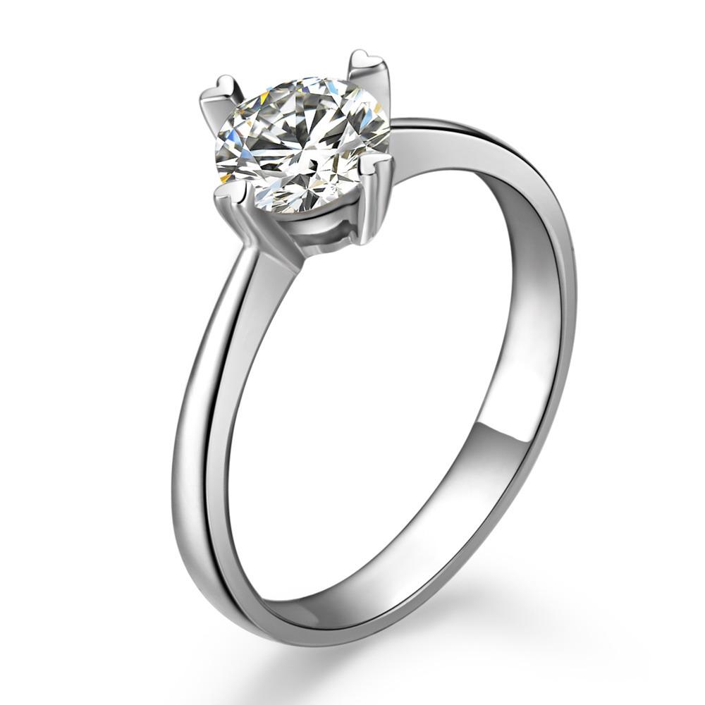》》点击进入【无限爱】 白18K金40分/0.4克拉钻石女士戒指