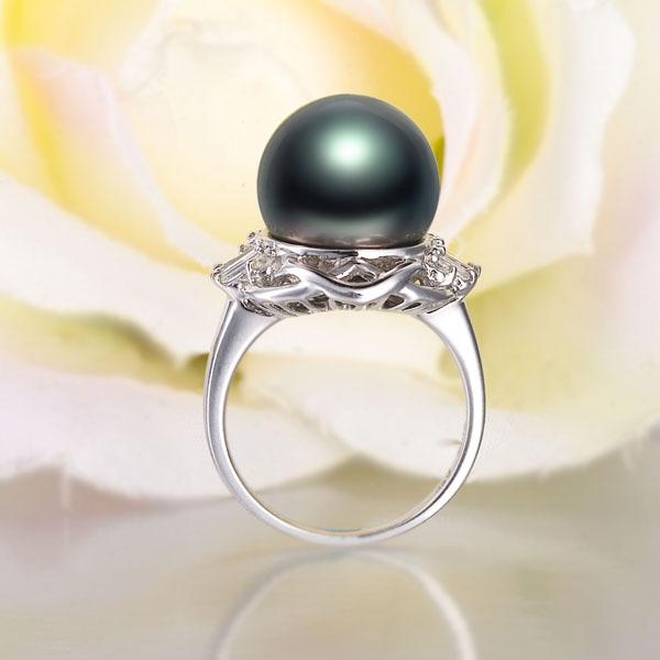 珍珠戒指最新款式图片