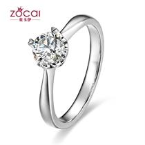 【吸引】 白18k金35分/0.35克拉钻石戒指