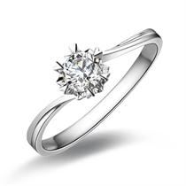【遇见爱】 白18k金26分/0.26克拉钻石戒指