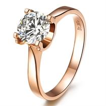 【魅力之约】  玫瑰18K金钻石女士戒指