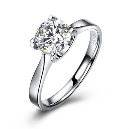 【魅力之约】 铂金PT950 钻石戒指