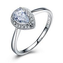 【天使之恋】 白18K金钻石女士戒指