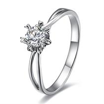 【爱之永随】 白18k金15分/0.15克拉钻石戒指