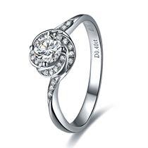 【圆舞曲】 白18K金钻石女士戒指
