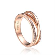 【深情】 玫瑰18k金钻石结婚求婚戒指