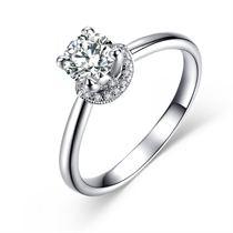 【一生牵绊】 白18K金钻石女士戒指