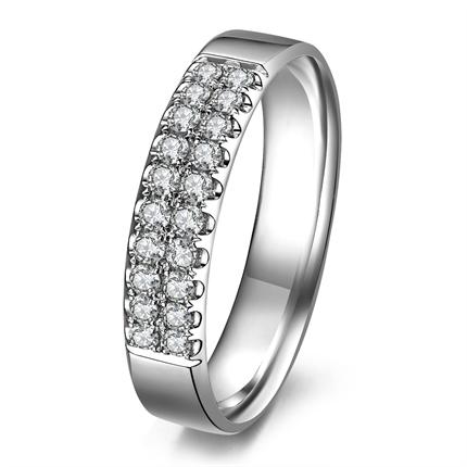 【璀璨爱情】 白18k金戒指