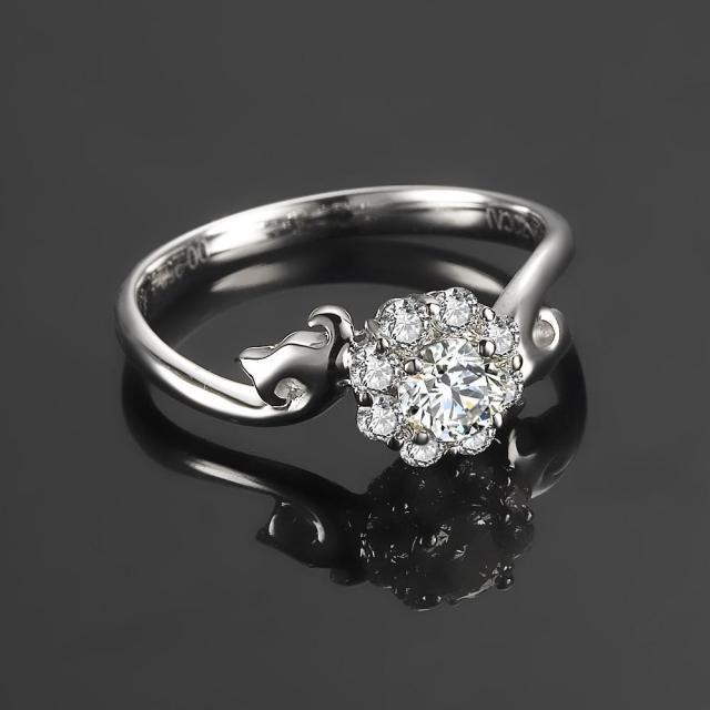 》》点击进入【浪花 】 白18k金钻石戒指