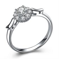 【盘龙之戒】 白18k金钻石戒指