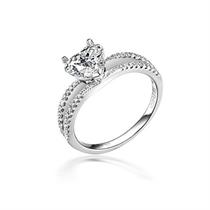 【琬月】 白18k金钻石戒指