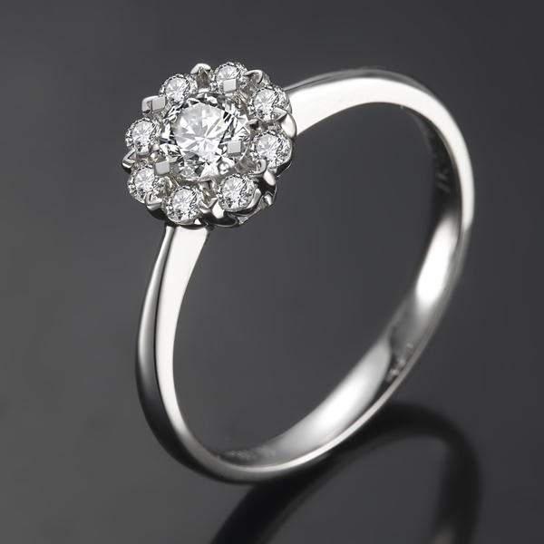 》》点击进入【璀璨光芒】 白18K金钻石戒指