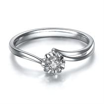 【格桑花】 白18k金5分/0.05克拉钻石戒指 抄底价