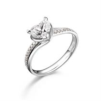 【音悦】 白18k金101分/1.01克拉钻石戒指