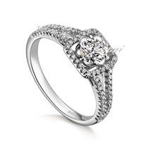 【瑰丽】 白18k金钻石女士戒指