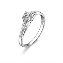【连理桥】 白18k金25分/0.25克拉钻石戒指
