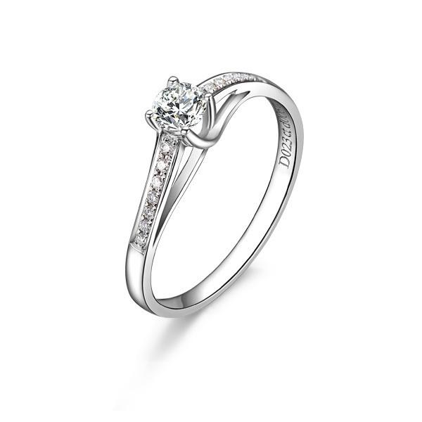 》》点击进入【连理桥】 白18K金25分/0.25克拉钻石女士戒指
