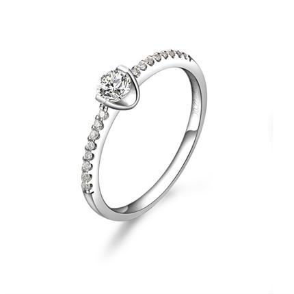 【吟唱】 白18k金钻石戒指