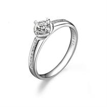 【光耀】 白18k金24分/0.24克拉钻石戒指