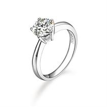 【闪烁】 PT950铂金50分/0.5克拉钻石戒指