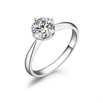 【爱之简约】 白18k金101分/1.01克拉钻石戒指
