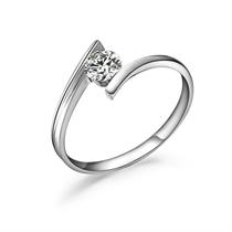 【星河】 白18k金40分/0.4克拉钻石戒指