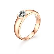 【文化】 60分/0.6克拉玫瑰金钻石戒指