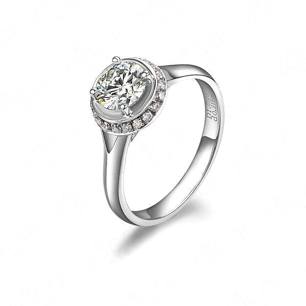 【圆满】 白18k金36分/0.36克拉钻石戒指