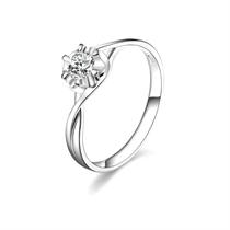 【浪漫丽人】 白18k金27分/0.27克拉钻石戒指