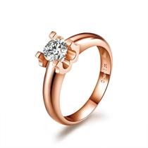 【玫瑰光耀】 50分/0.50克拉玫瑰金钻石戒指