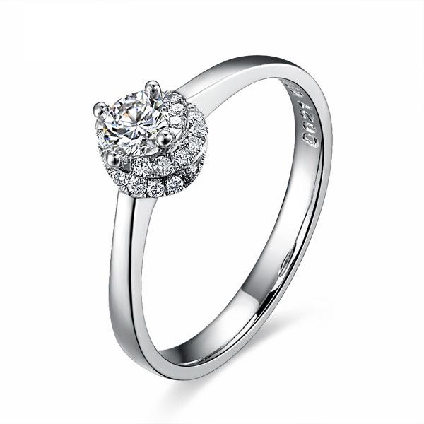 》》点击进入【绚丽】 白18k金21分/0.21克拉钻石戒指