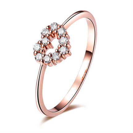 【遇见爱】 玫瑰金戒指