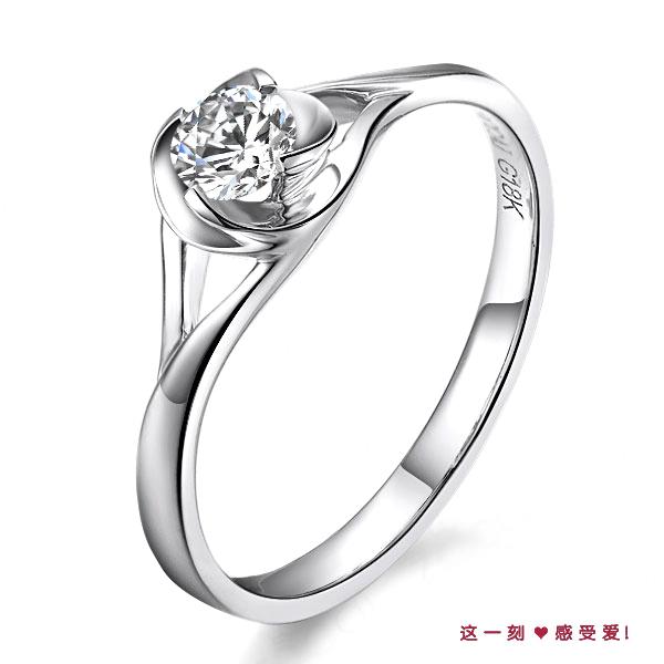 》》点击进入【艳耀】 白18k金22分/0.22克拉钻石戒指