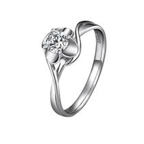 【年华】 PT950铂金31分/0.31克拉钻石戒指
