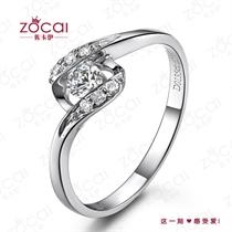 【爱相遇】 白18k金戒指