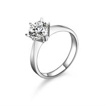 【承诺】 PT950铂金100分/1.00克拉钻石戒指