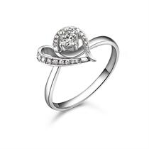 【幸遇】 白18k金14分/0.14克拉钻石戒指
