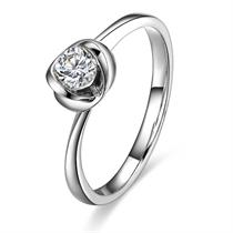 【憧憬】 白18k金20分/0.2克拉钻石戒指