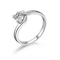 【灵动】 白18k金53分/0.53克拉钻石戒指