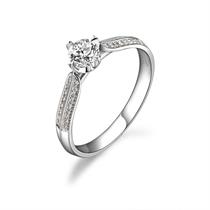 【甜蜜雪恋】 白18k金32分/0.32克拉钻石戒指