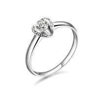 【温柔心跳】 白18k金35分/0.35克拉钻石戒指