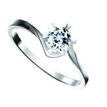【颂歌】 白18k金10分/0.1克拉钻石戒指